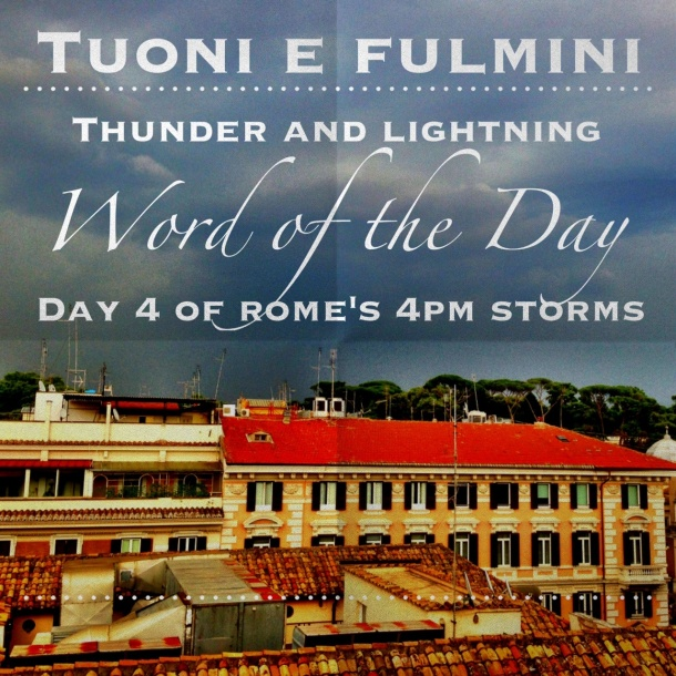 Word of the Day: Tuoni e fulmini