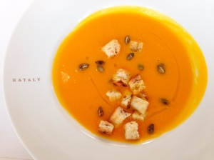 pumpkin soup eataly