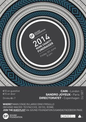 Save The Date for Sound Foundation 2.0 on June 20th, 2014, because when else can you party with great people, listen to fantastic music, and also support a completely worthwhilecause?