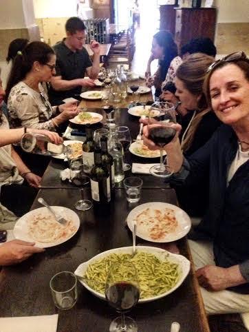 pasta table
